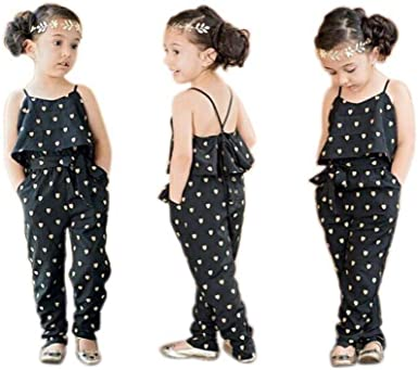 Amazon.com: EISHOW Infant Baby Girl Baby Girls Rompers Spaghetti Strap  Heart Print Sleeveless Jumpsuits Summer Outfits Clothes: Clothing