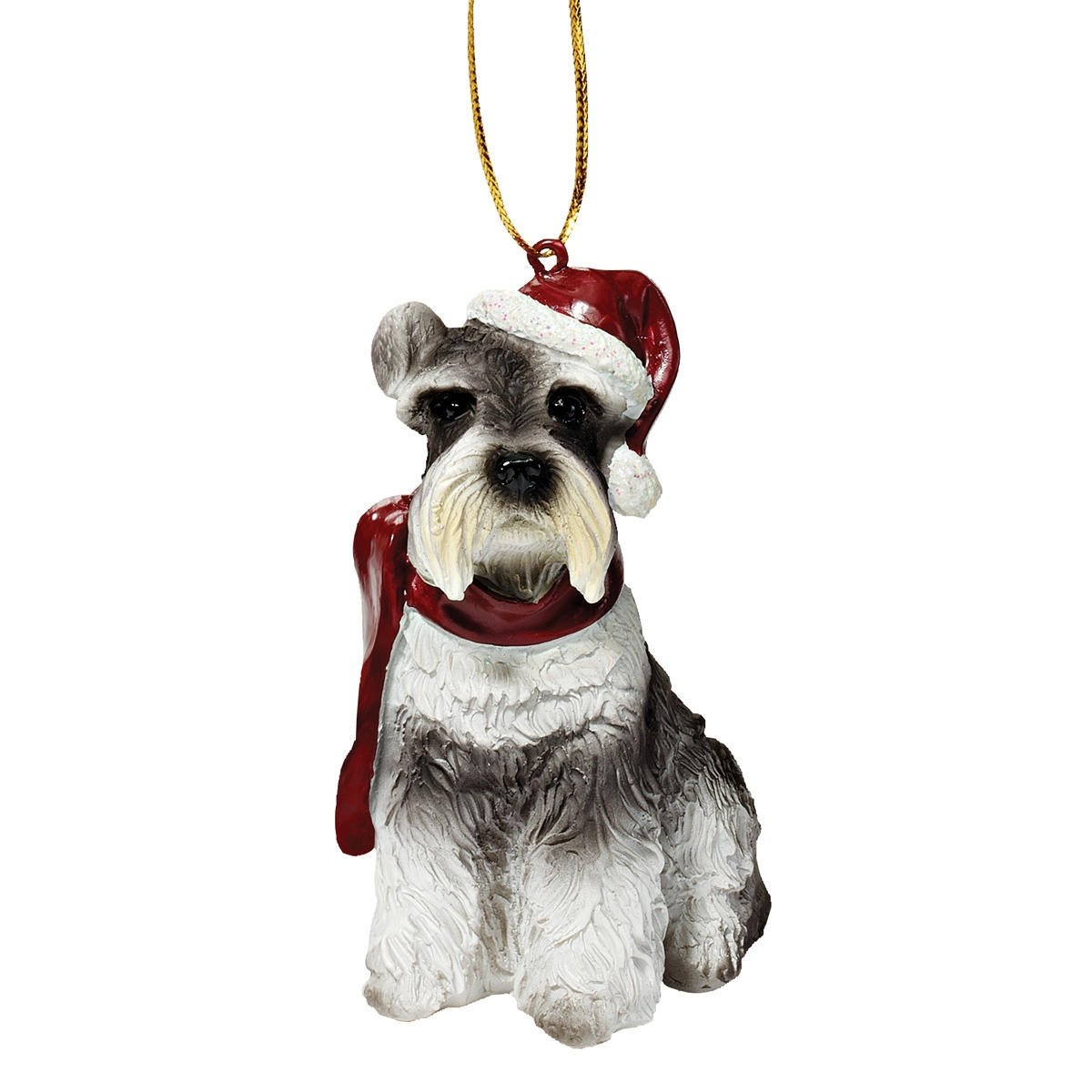 Design Toscano Christmas Ornaments - Xmas Miniature Schnauzer Holiday Dog Ornaments