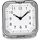 Chrome Square Folding Lightweight Travel Alarm Clock