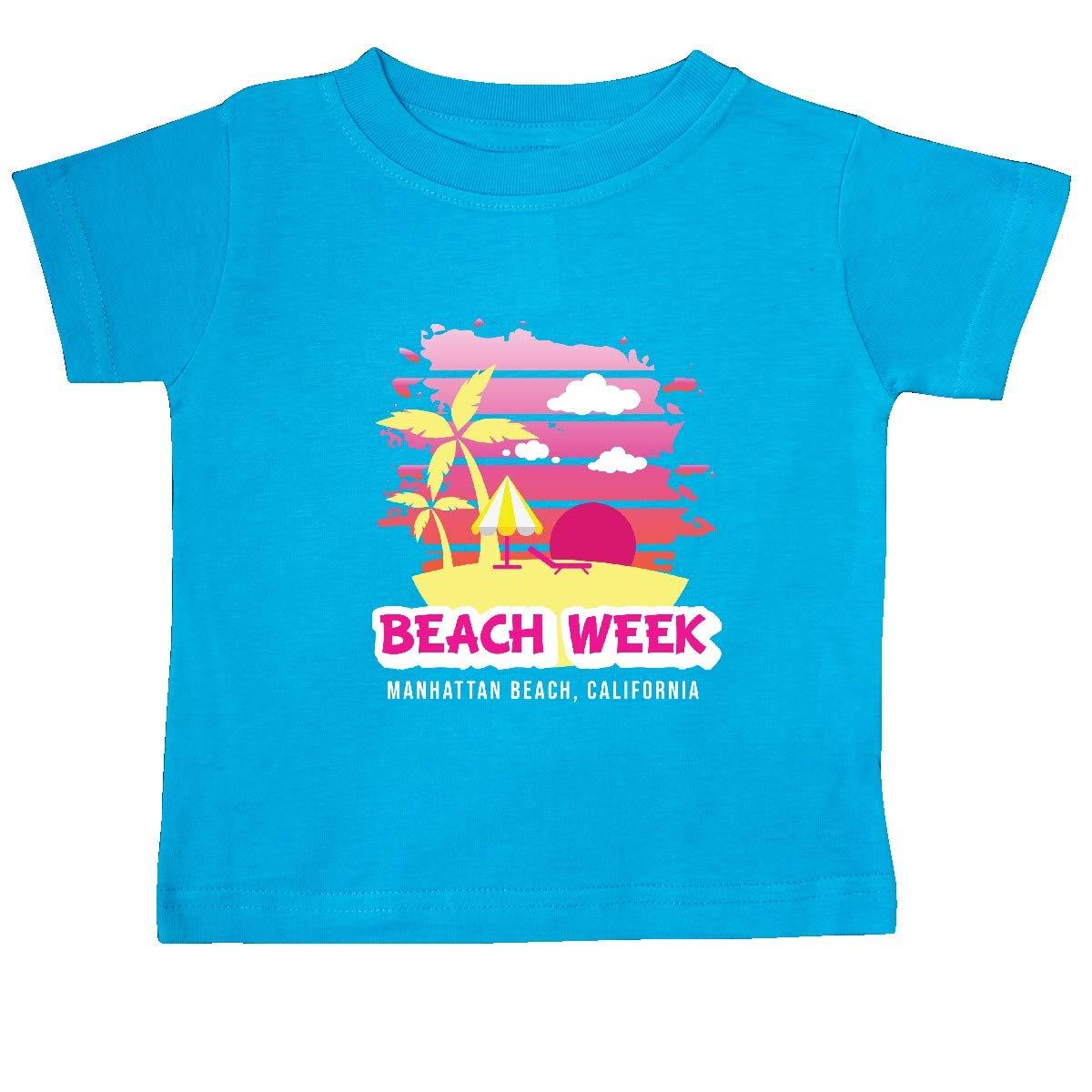 inktastic Beach Week Manhattan Beach California with Palm Trees Baby T-Shirt