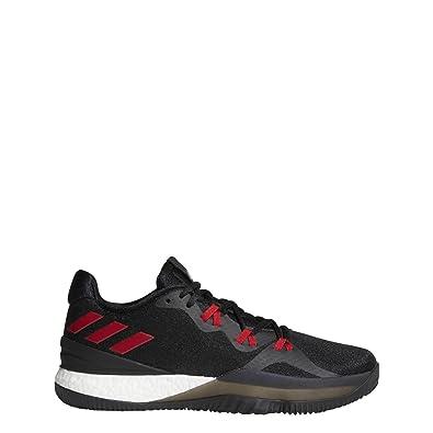 adidas Crazy Light Boost 2018 Shoe Men's Basketball 7.5 Core Black-Scarlet -Carbon