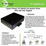 Tycon Systems TP-SW5G-24 5 Port High Power POE Switch - 10-36V DC Input