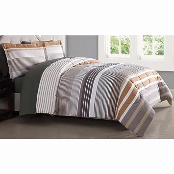 London Fog Abbington 7 Piece King Bed Sheet Set In Tan Amazon Co Uk
