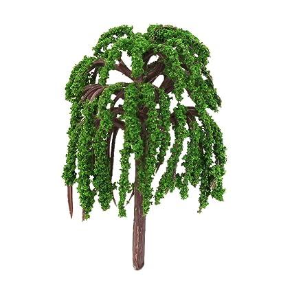 Julyshop Miniature Sakura Tree Plants Fairy Garden Accessories Dollhouse  Ornament Decor (Willow, 5 Pcs