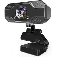 AVEDISTANTE Webcam con Micrófono, Webcam PC 1080P Cámara Web de Alta Definiciócon Reductor de Ruido y corrección de…