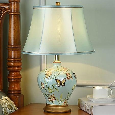 Shuang Bedroom Nightstand Ceramic Table Lamp Living Room Ceramic ...
