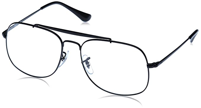 80848ba475 Amazon.com  Ray-Ban Men s RX6389 The General Eyeglasses Black 57mm ...
