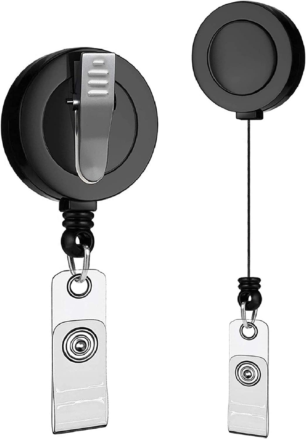 Vzrflee 20 Pack Retractable Badge Reel with 360° Swivel Alligator Clip Durable Badge Clip Retractable ID Badge Holder Retractable for Office, Nurse, Teachers, Security and More