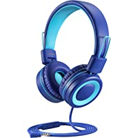 POWMEE P10 Kids Headphones with Microphone Stereo Headphones for Children Boys Girls,Adjustable 85dB/94dB Volume Control…