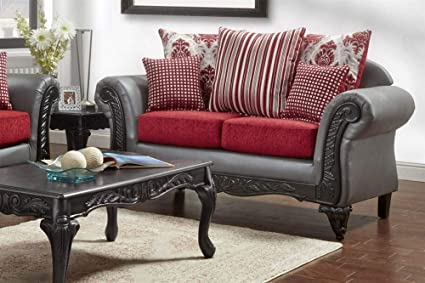 Amazon.com: Chelsea Home Loveseat in Gray: Kitchen & Dining