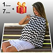 Nursing Cover Scarf, Breastfeeding Cover (Mother-Baby Bond), Baby Car Seat Canopy, Stroller Cover, Shopping Cart Cover. Breathable Fabric, Use it for Privacy While Nursing Your Baby by Nevons's Store