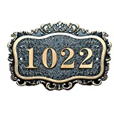 Aspire Customized House Address Sign, Acrylic Hotel Office Home Number Sign, Personalized Address Plaque Sign-D-5.9'' L x 11.8'' W