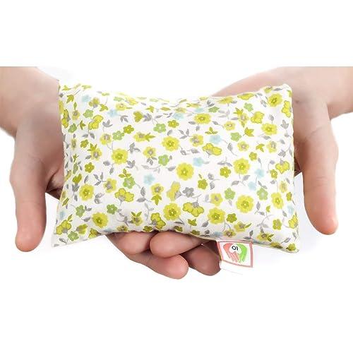 COJÍN ANTICÓLICOS para BEBÉS ✿ 15x10 cm ✿ Almohada Saco Térmico de Semillas para Microondas Tela