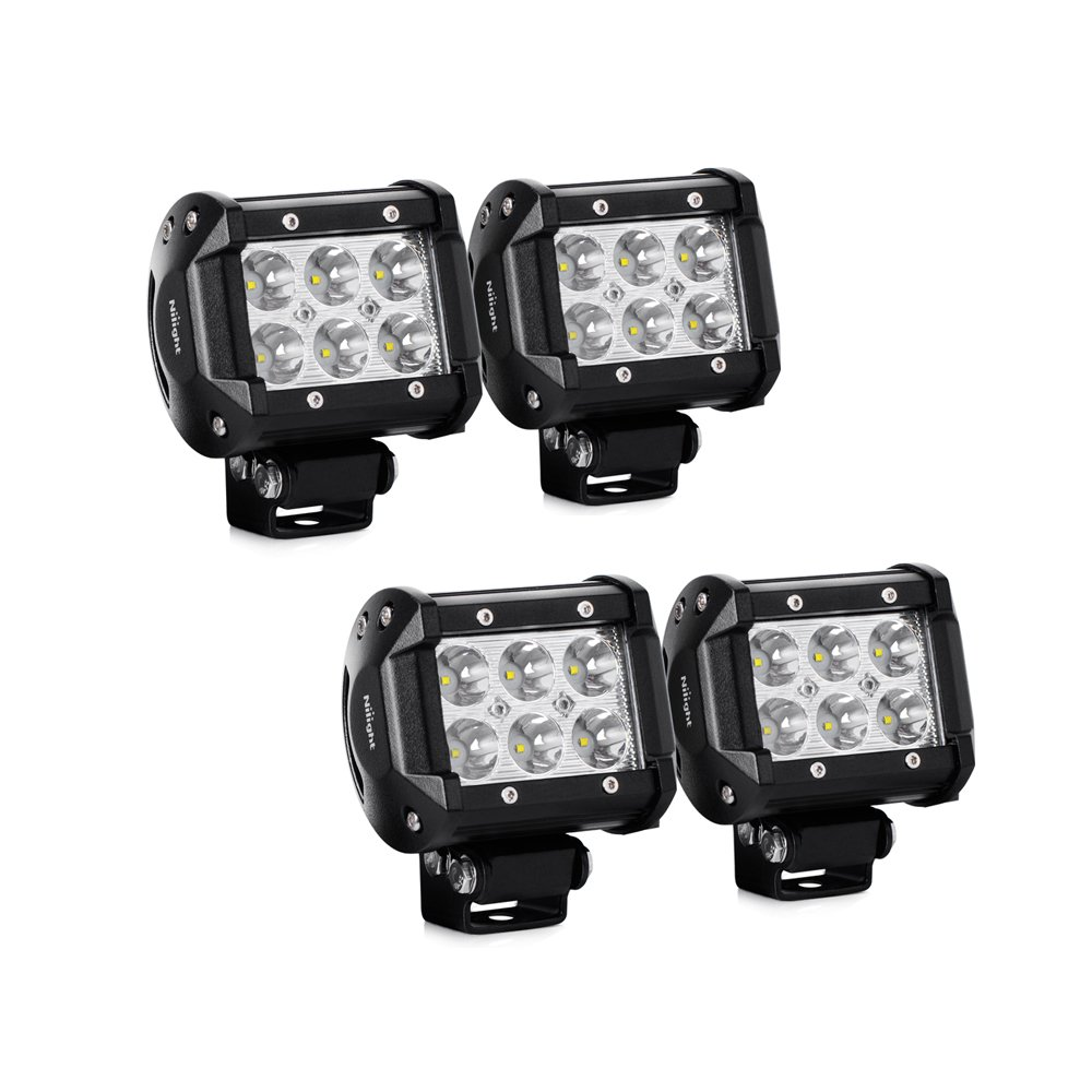 Amazon led light bar nilight 4pcs 18w 1260lm spot led pods amazon led light bar nilight 4pcs 18w 1260lm spot led pods driving fog light off road lights bar jeep lamp2 years warranty automotive aloadofball Image collections