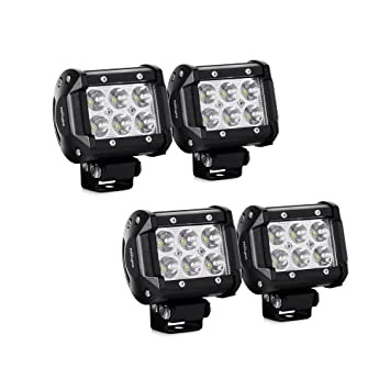 Amazon led light bar nilight 4pcs 18w 1260lm spot led pods led light bar nilight 4pcs 18w 1260lm spot led pods driving fog light off road lights aloadofball Choice Image