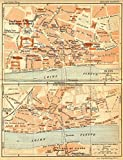 FRANCE: Blois Centre de Ville; -plan d'Ensemble, 1932 vintage map
