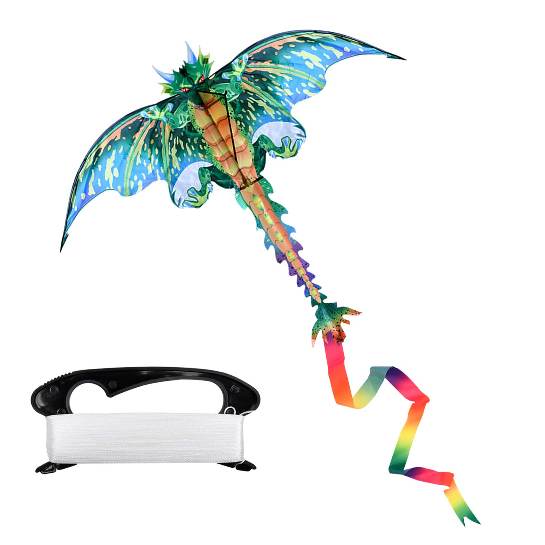 Milky House Dragon Kite,Beach Kites for Kids or Adult,Outdoor/Trip Fun Sports Dinosaur Kite Easy to Fly by Milky House