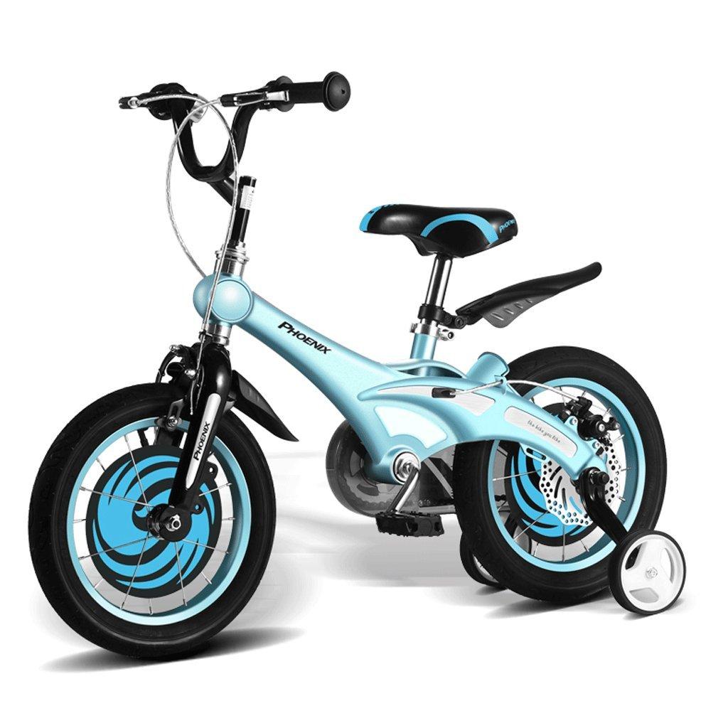 DGF 子供の自転車12/14/16インチの男性と女性のベビー自転車2-8歳のベビーカーのマウンテンバイク (色 : 青, サイズ さいず : 12インチ) B07F1S6RJ7 12インチ|青 青 12インチ