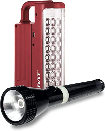 DAT Emergency Light and 2SC Flash Light Combo (Torch) D-700 - Red