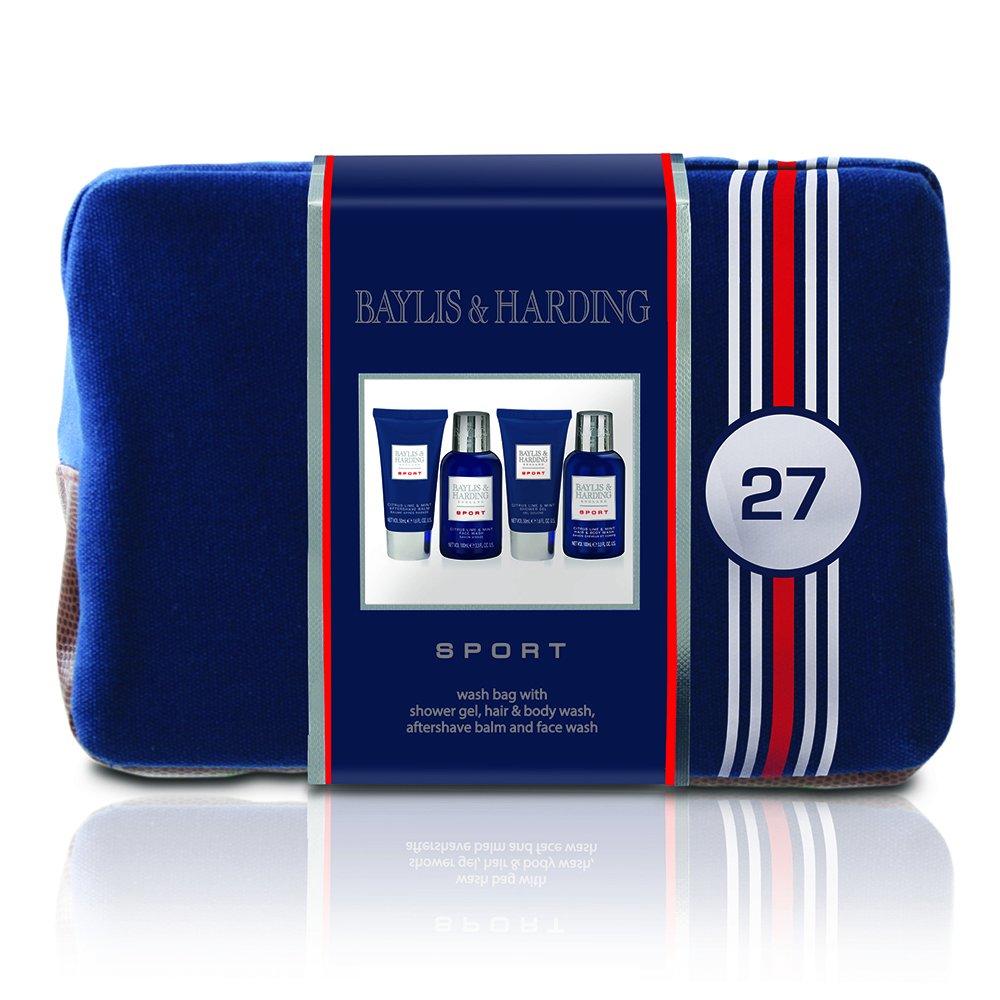 Baylis & Harding Coffret Cadeau Homme Sport, 4 Produits de Bain et Rasage Format Voyage et une Trousse de Toilette Baylis & Harding PLC BMAW16CLWBAG