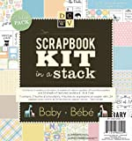 DCWV Scrapbook Kit in a Stack, Baby, 55 Sheets, 8 x 8 inches