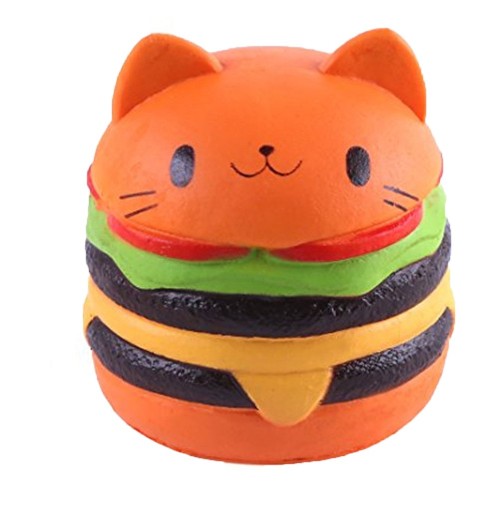 Jumbo Food Squishise Cat Hamburgers Cream Scented Slow Rising Squishies Charms Kid Toy Stress Relief Toy Decorations Toy