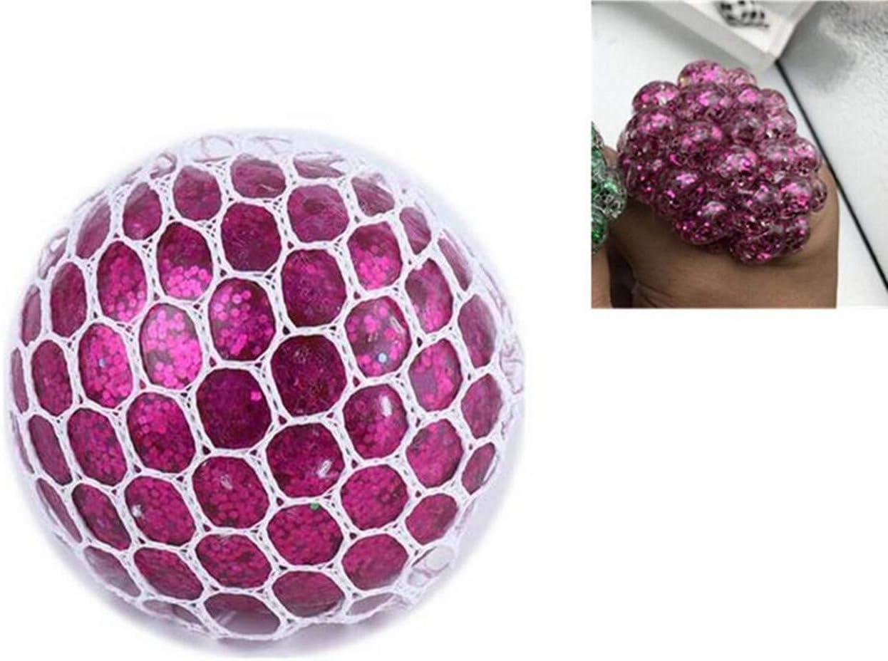 1 pelota de malla azul para aliviar el estrés, juguete antiestrés ...