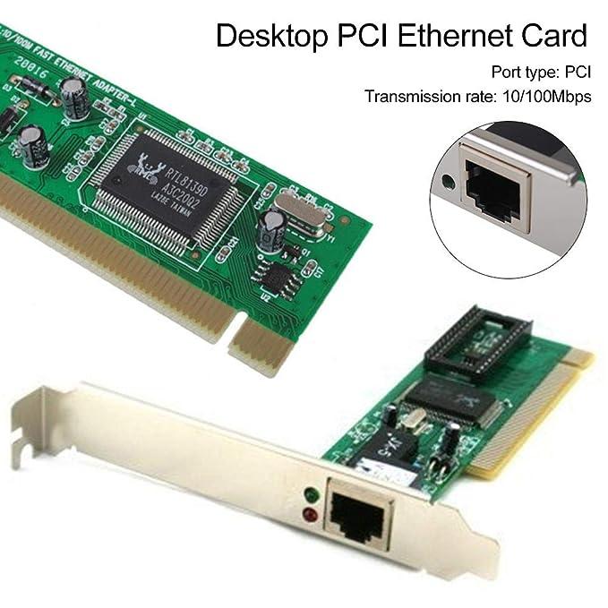 RTL8139D Tarjeta de red PCI Express 100 Mbps, tecnología Wake-on ...