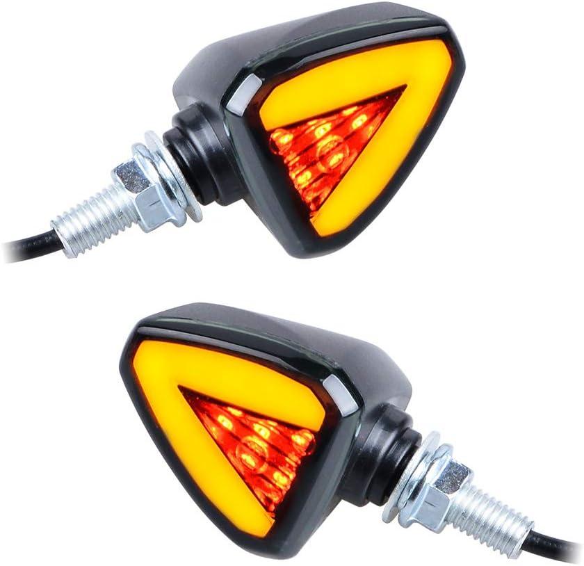 2x 12V Motorcycle Turn Signals Bullet Blinker Indicator 6 Amber SMD 7 Blue LED