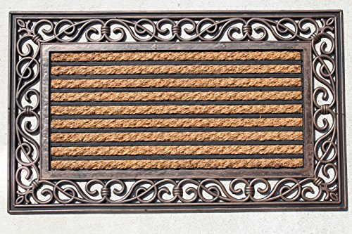 "Welcome Door Mat Natural Coir and Rubber Size 18"" X 30"""