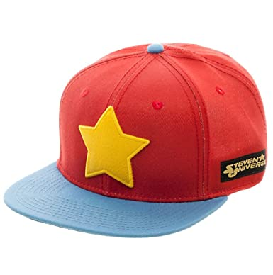 Animation Shops Steven Universe Star Logo Snapback Hat-One Size Red Blue 706ef454db5