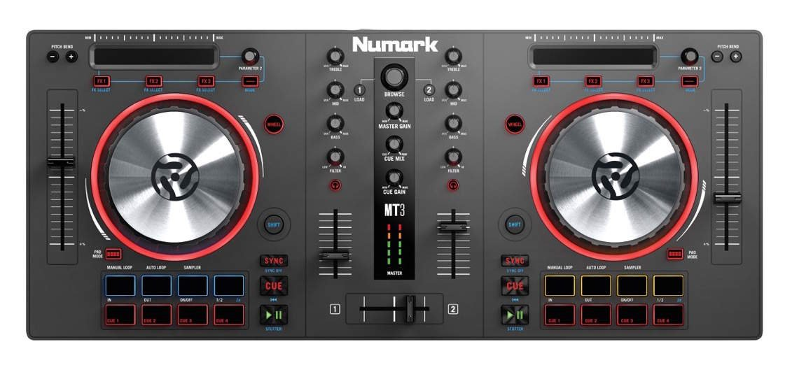 numark Mixtrack 3 USB DJ Controller with Trigger Pads & Virtual DJ LE Download, 25 x12 x 5