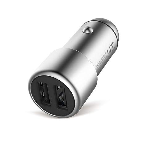 Amazon.com: ZMI USB de carga rápida Cargador de Coche 2-Port ...