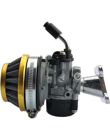 GOOFIT Carburador 19 PZ19 Moto con Filtro Aire 35mm Rendimiento para 2 Tiempos 47cc 49cc Mini