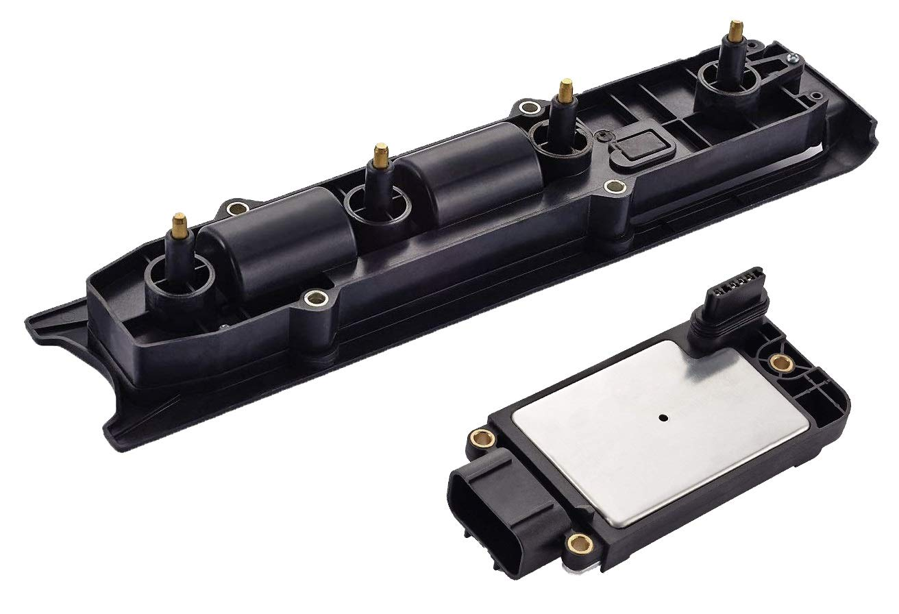 Ignition Coil and Module System Kit for 2000-2007 Chevrolet Cavalier Malibu Pontiac Grand Am Saturn Olds Alero 2.2L 2.4L
