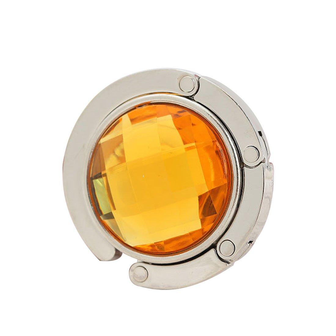 joyliveCY Plegable de diamantes bolso de mano bolso gancho percha soporte amarillo Amarillo CY-Buity
