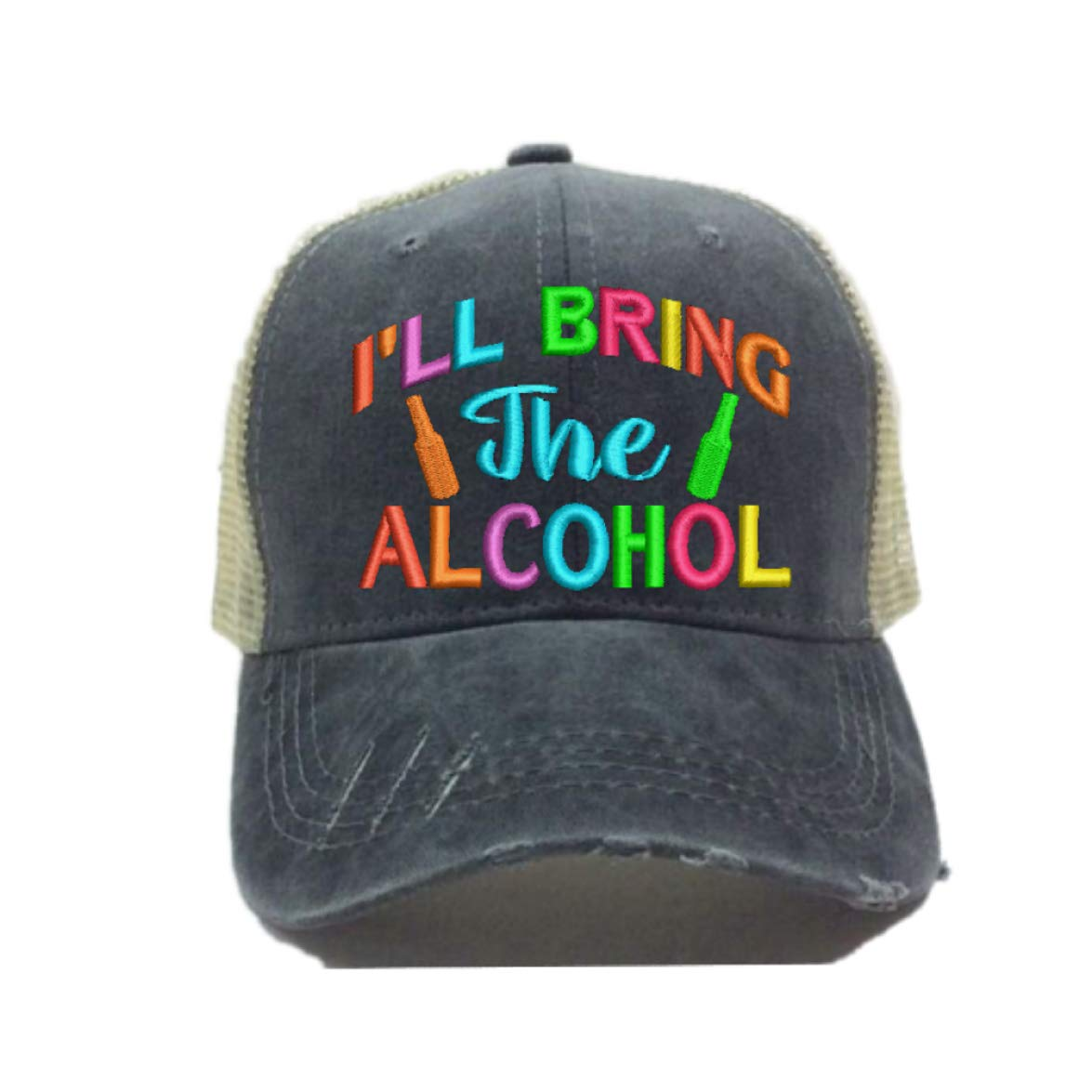 Adult Custom Distressed Ill Bring The Alcohol Bad Decisions Hat Men Women Funny Ball Cap