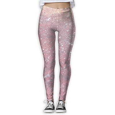 KUKUUU Glitter Flakes Comfort Yoga Pants For Women Basketball Athletic Compression Leggings
