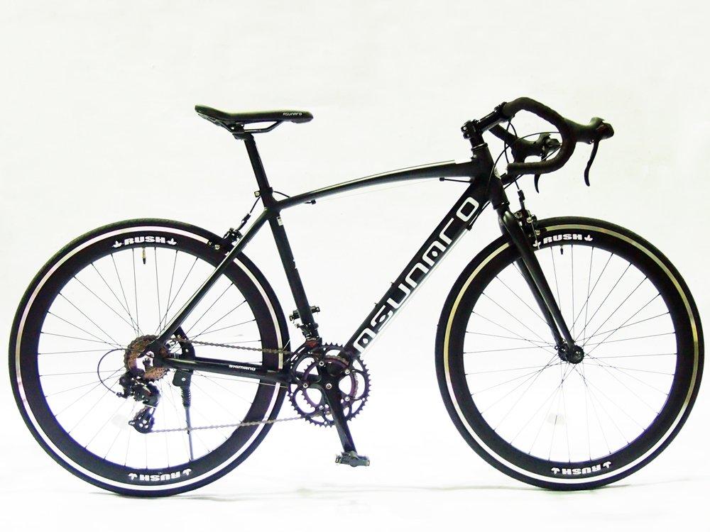 ASUNAROアスナロ 自転車 AN-7014ALD Abura(アビューラ) ロードバイク 700×23c 100%完成車 B073QNDRF5 マットブラック マットブラック