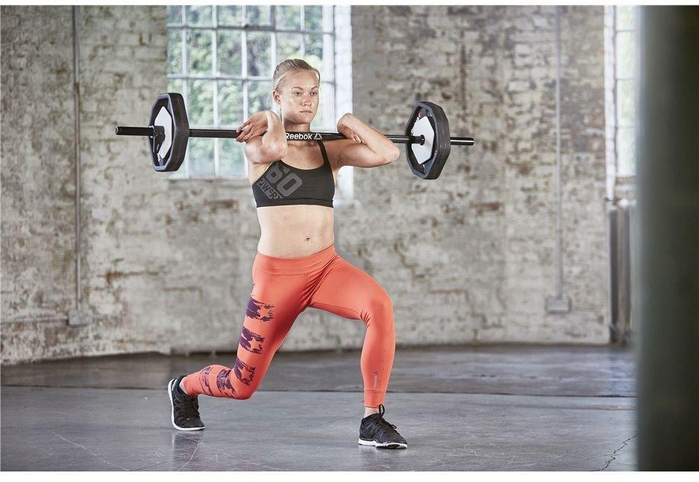 schwarz Reebok Rep Set Muscle Clamp Befestigungsklammern