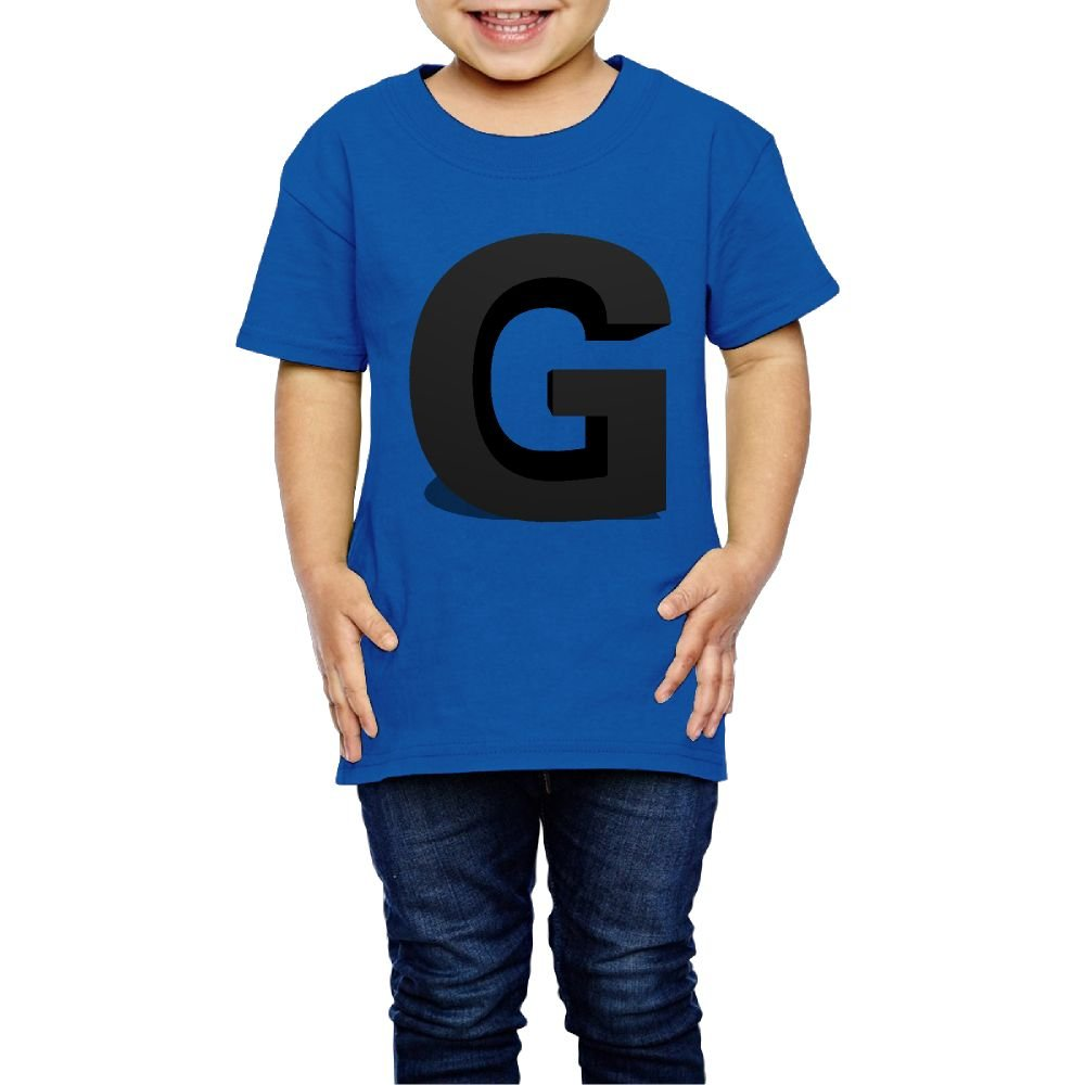 Girls 3D Creative Letter G T Shirt Photoshoots Or Hiking Camping Travel Vacation T-Shirt Or Daily Wear RoyalBlue 3 Toddler