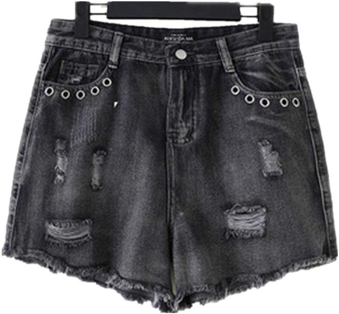 Pantalones Cortos para Mujer Dechired Vintage Retro Jeans ...