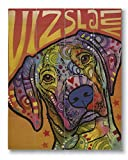 Dean Russo Vizsla Luv Printed on 11x14 Wood Pallet Slats Wall Art Sign Plaque Distressed Design