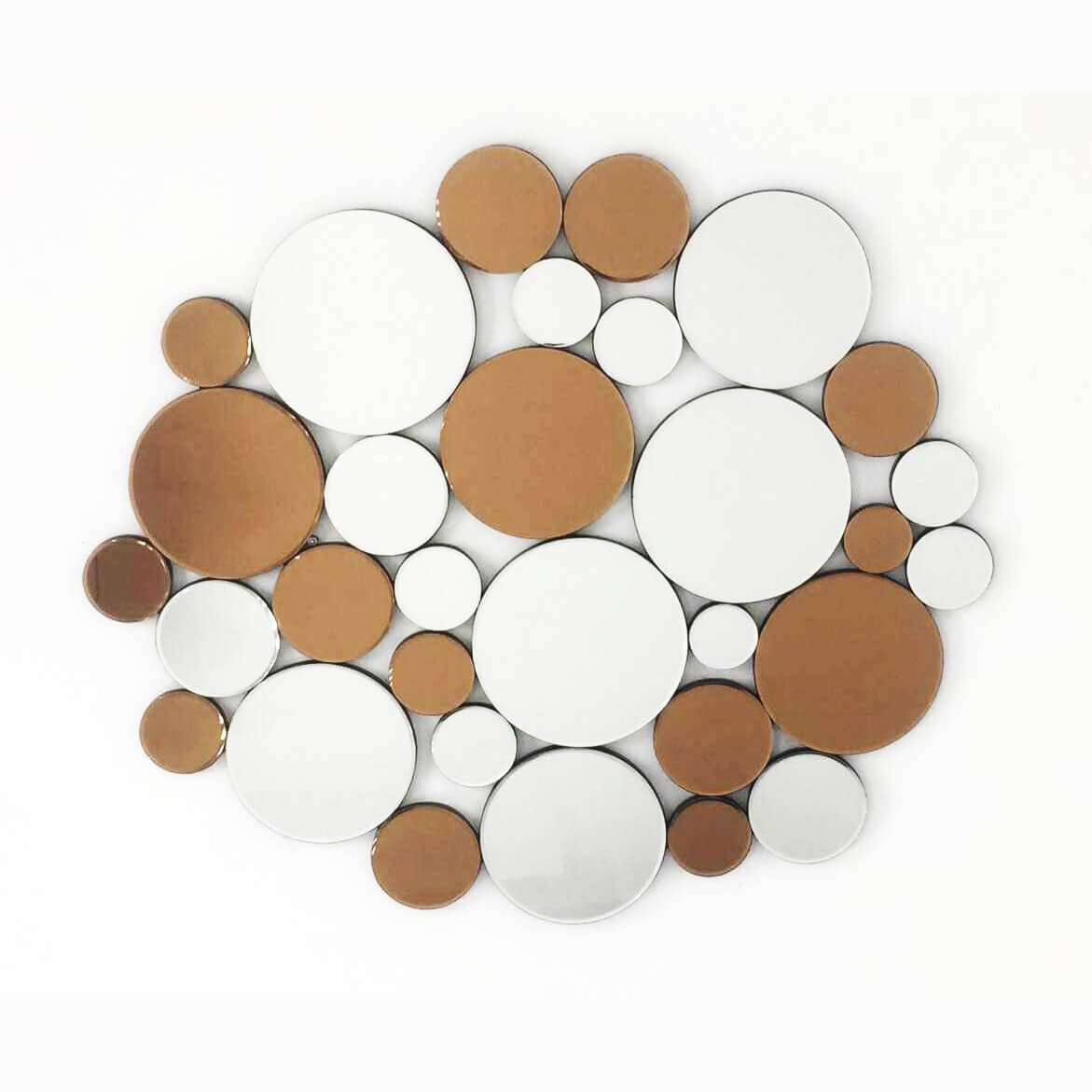 Fab Glass and Mirror FAB-WSTC003 Decorative Sunburst, Bathroom Wall Mirrors, 35.5 X 40.5, Clear &Bronze by Fab Glass and Mirror