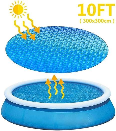 hook.s Cubierta de Piscina Solar para Piscinas inflables de, Piscinas rápidas, Cubierta de Burbujas, Cubierta de Piscina, Cubierta de Lona, Cubierta de Piscina térmica para Mantener el Calor: Amazon.es: Hogar