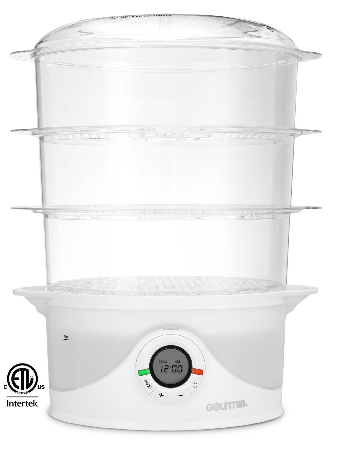 Amazon gourmia gfs300 steamtower300 electronic digital 3 tier amazon gourmia gfs300 steamtower300 electronic digital 3 tier vegetable and food steamer 95 quart bpa free clear free recipe book included forumfinder Choice Image