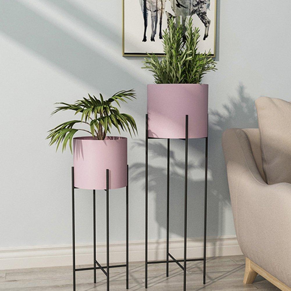 ZHANWEI フラワースタンド フラワーポットラック 鉄 アート 三角 床置き 多機能 多層 リビングルーム バルコニー 寝室 北欧の風 屋内/屋外、 2色, 20x60cm/23x80cm (色 : ピンク ぴんく, サイズ さいず : S s) B07FGWLY43  ピンク ぴんく S s