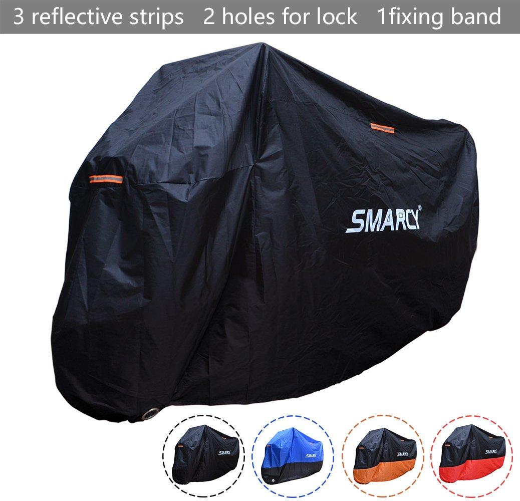 SMARCY® Housse de Protection pour Moto Orange et Noir XXL