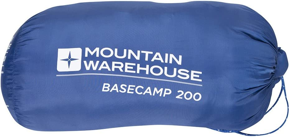 for this sleeping bag its 15/°C to 5/°C Hollow fibre insulation Great For Summer Nights Mountain Warehouse 2 Season warm nights w x 75cm summer 185cm indoor use Comfort Temperature l Ideal for warm weather camping trips Dimensions wei