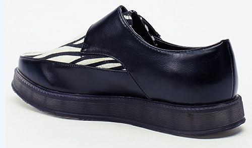 aa16deffcef Martin Pescatore Zebra Print Contrast Buckle Chaussure pour Femme Noir (UK  5 Euro 38)  Amazon.fr  Chaussures et Sacs